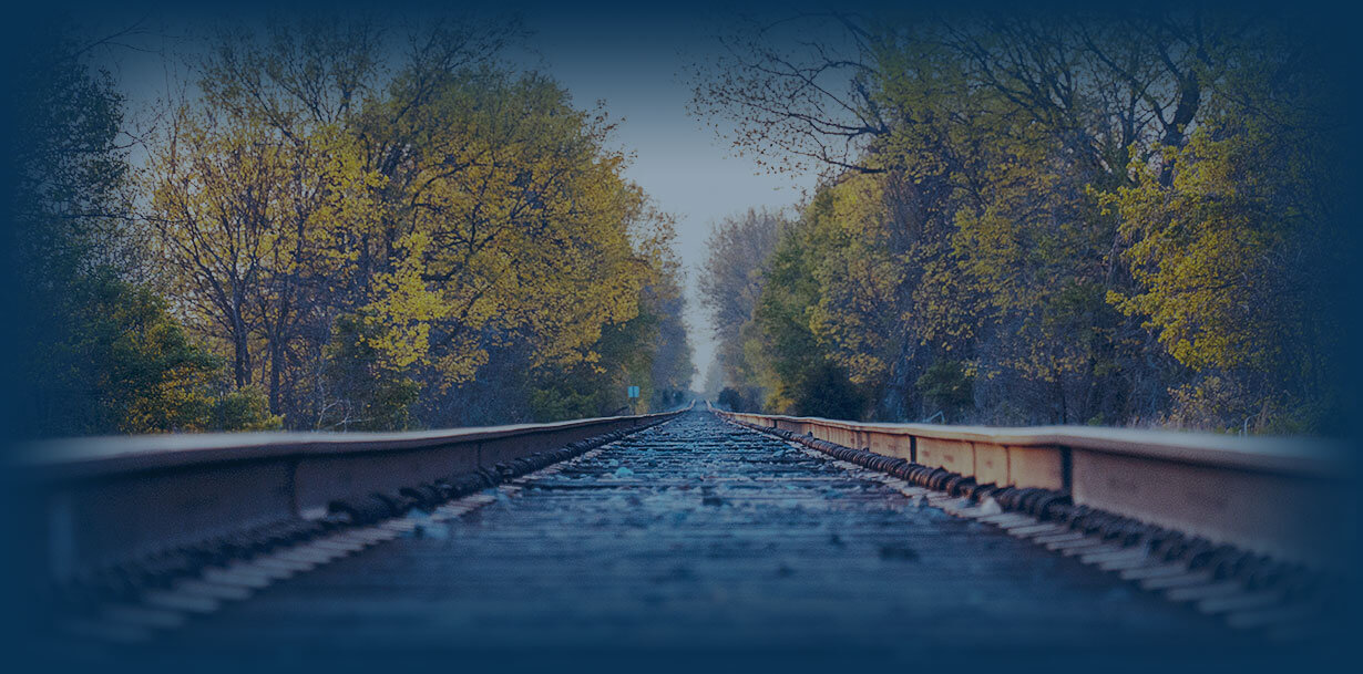 close up of railway track